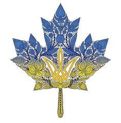 Maria Lewycky. Канада canada maple leaf tryzub ukraine