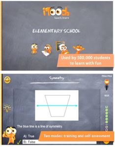 iTooch Elementary School App - common core alighed, cover subjects like Language Art, Math, Science.  In Language, includes reading compresion, grammer, etc; FREE version has plenty practice problems; with practice and test modes #kidsapps #edapps #commoncore #elementary #math #language #science