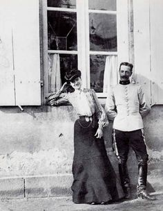 Gabrielle Chanel and Etienne Balsan, 1903.
