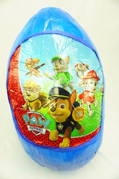 Check out our Paw Patrol Surprise Egg or order something custom. Let us know :) They are like the New Pinatas but these Surprise eggs are usually filled with Toys instead of Candy. Order your Surprise egg now and fill it up with awesome prizes to bring smiles into the world! Formed with carefully measured and cut cardboard strips to make an egg shape, and reinforced with paper mache. Opening is cut in the back to fill and retrieve prizes. Can be reusable