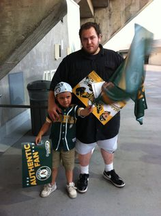 Father and Son enjoying the game!  #athletics #AuthenticFan