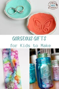 These homemade Christmas gift ideas for kids to make are perfect for the holidays! DIY gifts are thoughtful and meaningful and great for giving to Mom, Dad, or Grandparents for Christmas. These handmade gifts are so simple to make and are gift ideas that everyone will truly love to receive!
