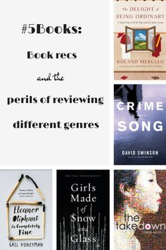 #5Books: Book recs and the perils of reviewing different genres: What are the things that you look out for when you're review a book outside your normal genre? #5Books: The Perils of Reviewing Different Genres http://editingeverything.com/blog/2017/04/17/5books-perils-reviewing-different-genres/