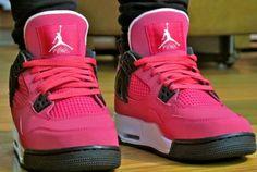 334a79bb221 Air Jordan 4 Retro GS – Voltage Cherry Pink And White Jordans