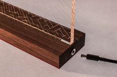 Dedalo  Table lamp wood and acrylic