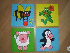 Grappige, vrolijke schilderijtjes voor op de baby- en kinderkamer van MMKADO. Met acrylverf geschilderd op canvasdoek. Incl. haakje om op te hangen. Ze zijn ook los te bestellen zodat je een eigen collage kunt maken. Mocht je een bepaald schilderij in andere kleuren willen, geen probleem. Ook de naam en/of geboortedatum erop is mogelijk. Neem gerust contact op voor de mogelijkheden. Mix Match