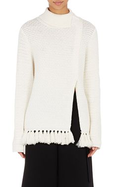 Proenza Schouler Fringe Turtleneck Sweater | Barneys New York