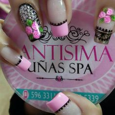 Decoración de uñas Fall Nail Art, Cute Nail Art, Cute Nails, Short Nails Art, Long Nails, French Nails, Nail Decorations, Flower Nails, Diy Nail Designs