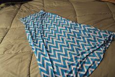 Blue Dawn Jersey Chevron Print Maxi Skirt #StitchFix