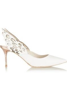 Angelo cutout leather slingback pumps #strappyshoes #women #covetme #sophiawebster