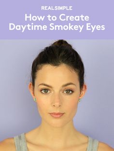How to Create Daytime Smokey Eyes | Natural enough for day (and great for the office or brunch), this eye makeup looks polished and is surprisingly easy to pull off—you only need one eyeshadow!