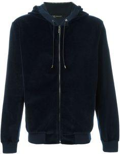 Versace Medusa velvet zipped up hoodie