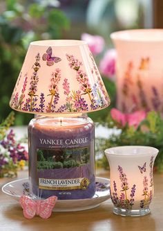 Beautiful shade for Spring - might have to break down and buy (Yankee Candle decorative Jar Shade)