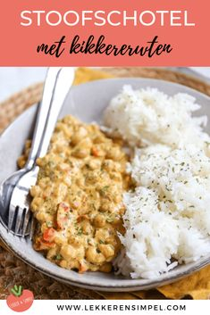 Stoofschotel met kikkererwten - In 30 minuten klaar! - Lekker en Simpel I Love Food, Good Food, Yummy Food, Healthy Food, Vegetarian Recepies, Vegan Recipes, Vegas, Lunches And Dinners, I Foods