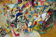 Wassily Kandinsky, Composition VII, 1913 More than 30 different sketches creating a composition of Resurrection, judgement day, the flood, and the garden of eden. (Angelica Hayward HUMN 1101.10177)