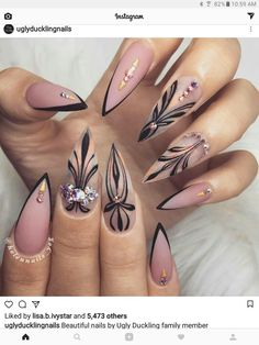 "If you're unfamiliar with nail trends and you hear the words ""coffin nails,"" what comes to mind? It's not nails with coffins drawn on them. Although, that would be a cute look for Halloween. It's long nails with a square tip, and the look has. Summer Acrylic Nails, Cute Acrylic Nails, Acrylic Nail Designs, Cute Nails, Nail Art Designs, Nails Design, Summer Nails, Hallographic Nails, Sexy Nails"
