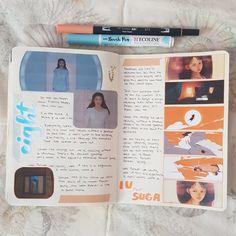 Bullet Journal Books, Journal Art, Scrapbook Journal, Journal Inspiration, Journal Ideas, Franklin Covey, Journal Writing Prompts, Kpop, Smash Book