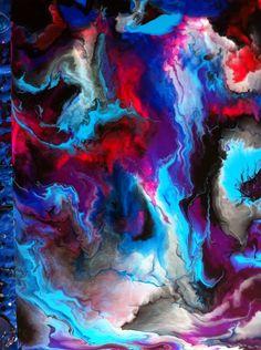 18 x 24 inch acrylic pour Original art by Christine Purdy
