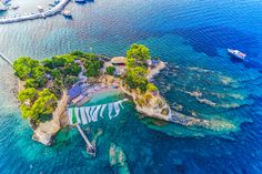 Cameo island in Laganas Bay, Zakynthos, Greece.