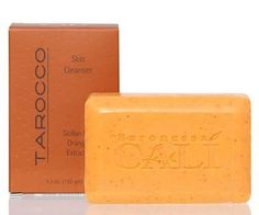 "Cali Tarocco Soap Bar Skin Cleanser Sicilian Red Orange by Cali Cosmetics. $12.00. This is a deep moisturizing olive oil bar of soap with a beautiful scent of Sicilian Red Orange. It will leave your skin soft and smooth.  Tarocco, also know as ""Blood Orange"" and ""Red Orange"", meaning beautiful in Sicilian dialect."