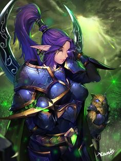 fantasy art anime World of Warcraft warrior comics mythology screenshot computer wallpaper fictional character comic book Fantasy Races, Fantasy Rpg, Fantasy Girl, World Of Warcraft Game, Warcraft Art, Warcraft Legion, Fantasy Female Warrior, War Craft, Night Elf