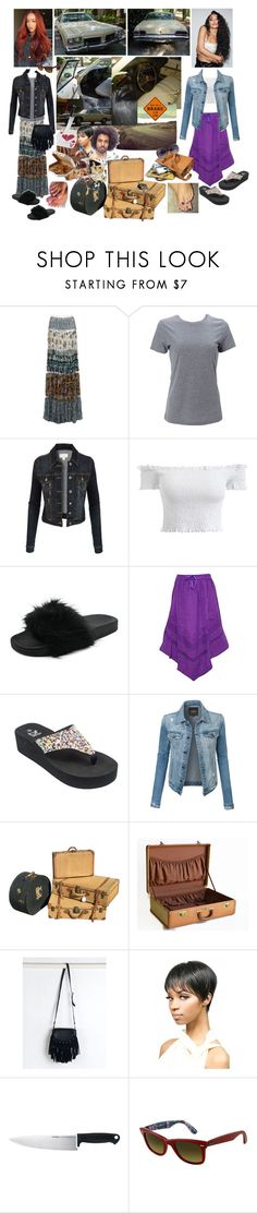 """""""Cynthia & Marla: Road Trippin' Drama Queens' Excess Baggage💔👩🏽👩🏻💔👨🏽💔🔪🚬👜👣🛣"""" by chrisiggy ❤ liked on Polyvore featuring Roberto Cavalli, Simplex Apparel, LE3NO, Avon, OUTRAGE, WithChic, Kershaw and Ray-Ban"""