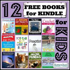 12 FREE Kindle Books for KIDS  for 10/13/14 — Human Body, Moon, Penguins, Crochet, Art and more!