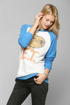 Junk Food E.T. Raglan Pullover Sweatshirt #urbanoutfitters