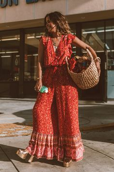 A Day in LA with Sara Escudero from ~ Spell & The Gypsy Collective Boho Chic, Look Hippie Chic, Bohemian Style, Bohol, Boho Outfits, Summer Outfits, Earthy Outfits, Estilo Hippy, Boho Fashion