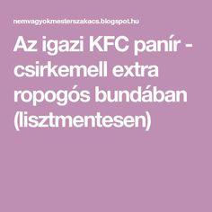 Kfc, Chicken Recipes, Fitt