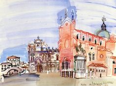 Venice Artwork by Raoul Dufy Hand-painted and Art Prints on canvas for sale,you can custom the size and frame