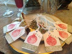 Christmas NOEL  Place Tags Set of 6 by SimpleSouthernSass on Etsy, $6.95
