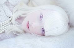 The gorgeous Russian albino model, Nastya (Kiki) Zhidkova.
