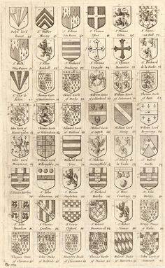 Arms of knights of the Garter. 045-092, 'Arms of knights of the Garter', Wenceslas Hollar, 1672-1677.