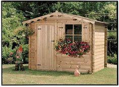 Great garden shed. Kids House Garden, Home And Garden, Dog Houses, Play Houses, Wooden Sheds, Wooden Playhouse, Barbacoa, Ibiza, Playground
