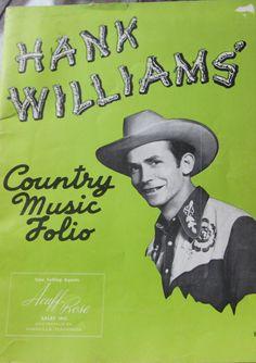 1940's Original Hank Williams Country Music by VintageTexasMama, $65.00