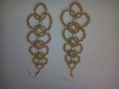 zlaté+náušnice+délka+10+cm