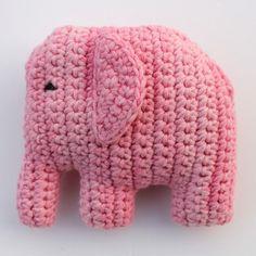 Olifant haken | draadenpapier | Gratis patroon van Emelie #elephant #crochet