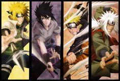 Naruto Jiraya Minato Sasuke by naruto17100.deviantart.com on @deviantART