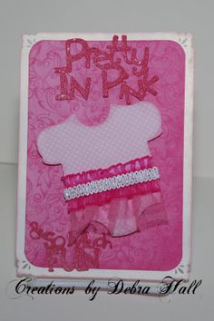 Pretty In Pink Handmade Invitation