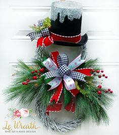 Learn how to make grapevine Christmas wreaths for front door that are easy and simple. Most of the supplies can be bought at your local dollar store for these awesome rustic Christmas decor ideas. Grapevine Christmas, Christmas Wreaths For Front Door, Outdoor Christmas, Holiday Wreaths, Simple Christmas, Christmas Crafts, Christmas Decorations, Winter Wreaths, Snowman Wreath