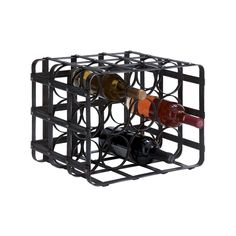 Keep your favorite wines safe and out of the way with this sturdy wine rack. Designed with rust-free metal, this handsome black rack features 16 slots for standard sized wine bottles.