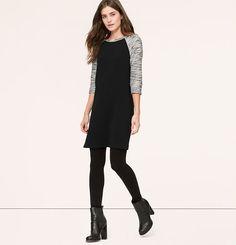 Tall Marled Sleeve Dress | Loft