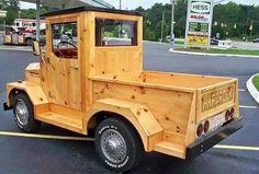 A wooden car!