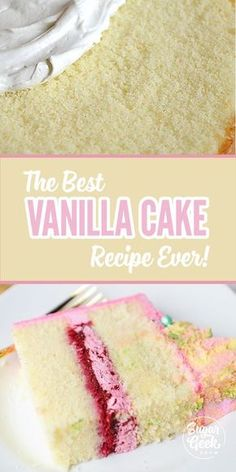 The best tasting vanilla cake recipe uses high quality butter, cake flour, whole milk and a touch of oil to keep it moist! The reverse-mixing method is the key to this insanely gorgeous texture! Give this vanilla cake recipe a try and you'll never go back to box mix.