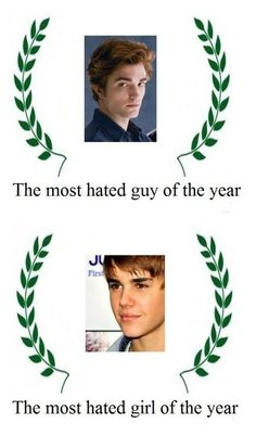 Bahaha, they only hate Edward because he's so awesome!  Justin Bieber on the other hand I can't stand!!! Love this one :)