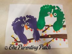 Autumn Halloween Owl Footprint Craft | Parenting Patch