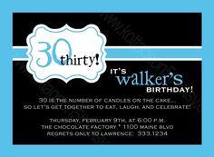 30 birthday invitations for men