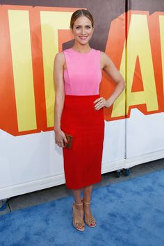 Brittany Snow in a Brandon Sun dress at the MTV Movie Awards
