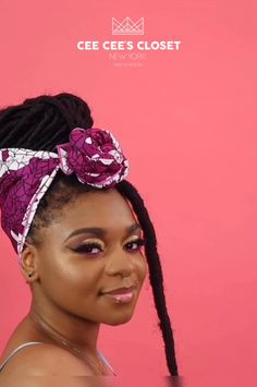 Add a pop of color to your next protective style - Protective styles for natural hair - Hair Wrap Scarf, Hair Scarf Styles, Curly Hair Styles, Natural Hair Styles, Scarf Hairstyles, Braided Hairstyles, Braided Updo, Hairstyle Ideas, Protective Styles